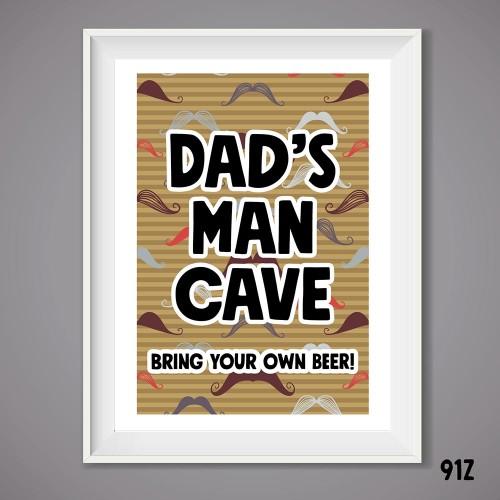 Man Cave Wall Print