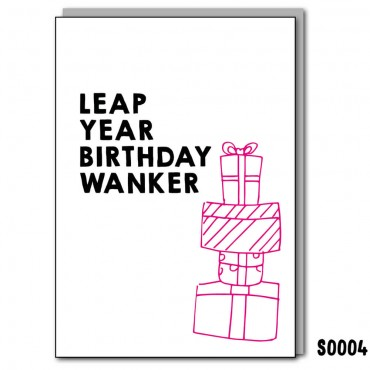Leap Year Birthday Wanker