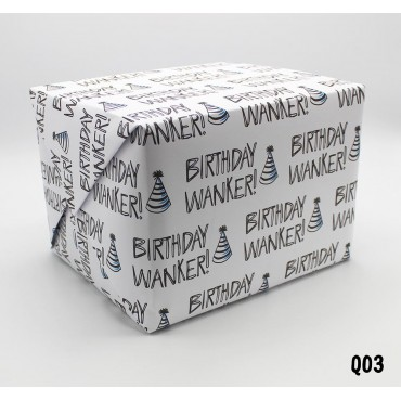 Birthday Wanker Wrapping Paper