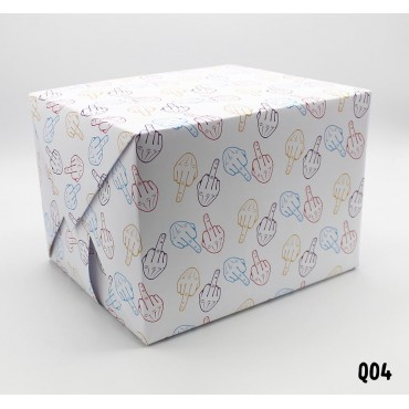 Middle Finger Wrapping Paper