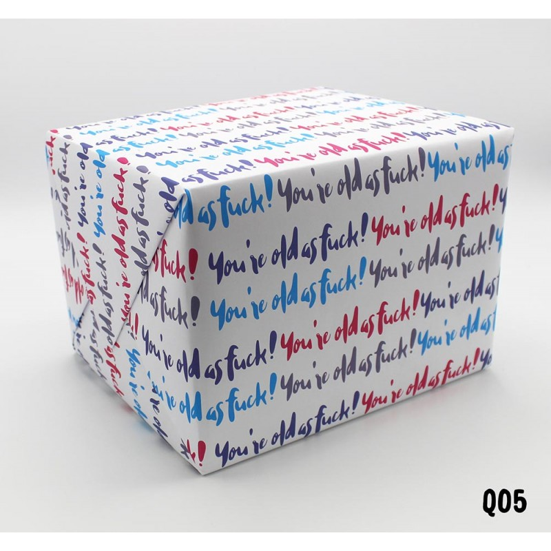 Old as Fuck Wrapping Paper