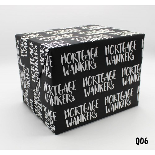 Mortgage Wankers Wrapping Paper