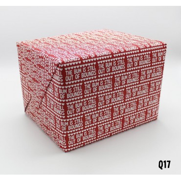 Bum out of Bounds Wrapping Paper