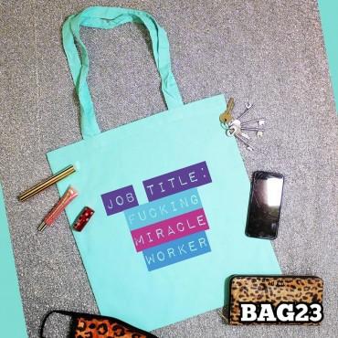 Job Title Tote Bag