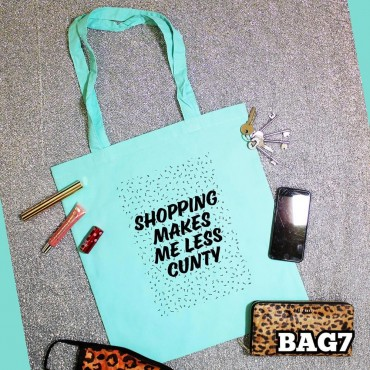 Shopping Cunt Tote Bag