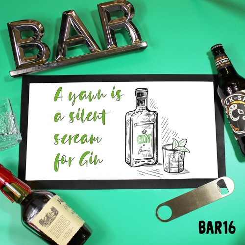 Gin Bar Counter Mat