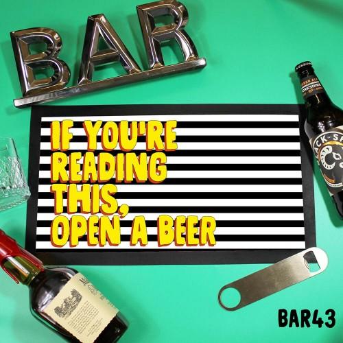 Reading This Bar Mat