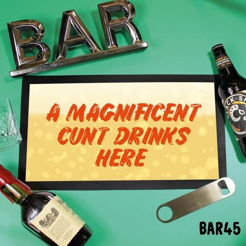 Drinks Here Bar Mat