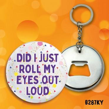 Roll Eyes Keyring