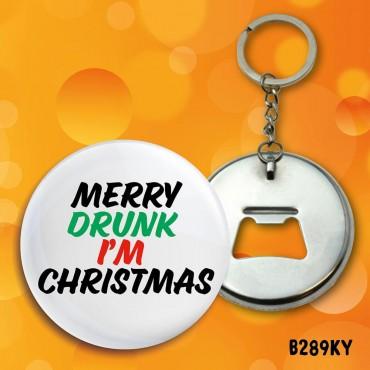 Merry Drunk Keyring