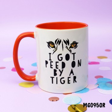 I got peed on by a Tiger Mug