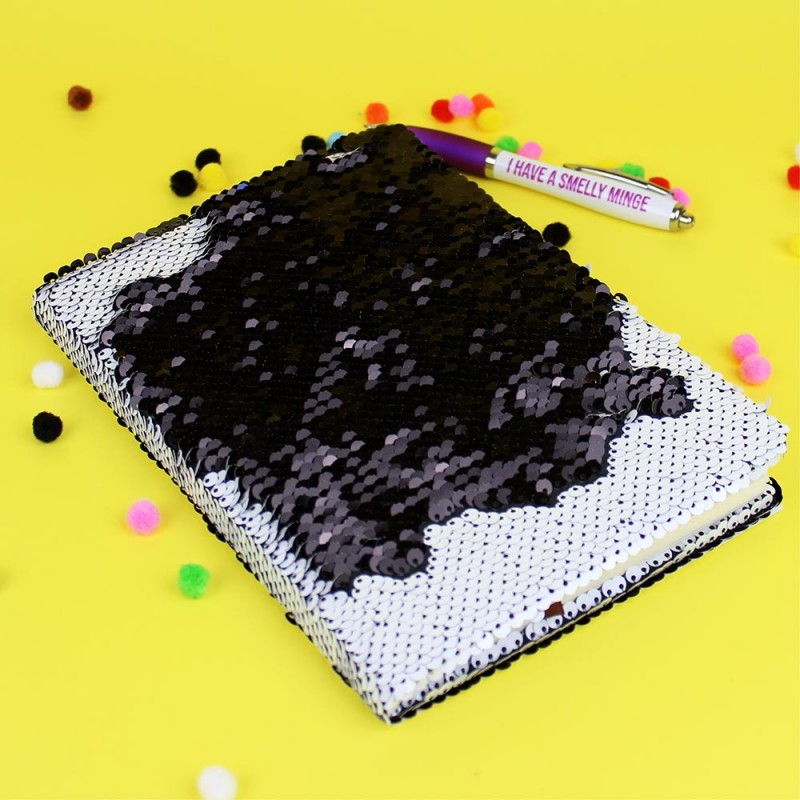 Bored AF Sequin Notebook