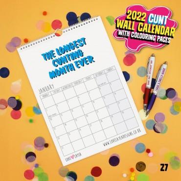 Wall Cunt Calendar 2021
