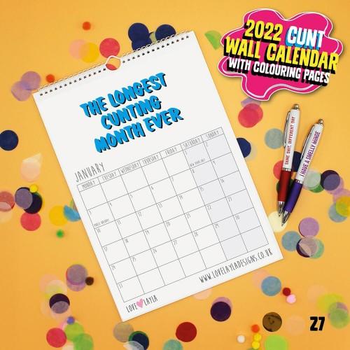 Wall Cunt Calendar 2022
