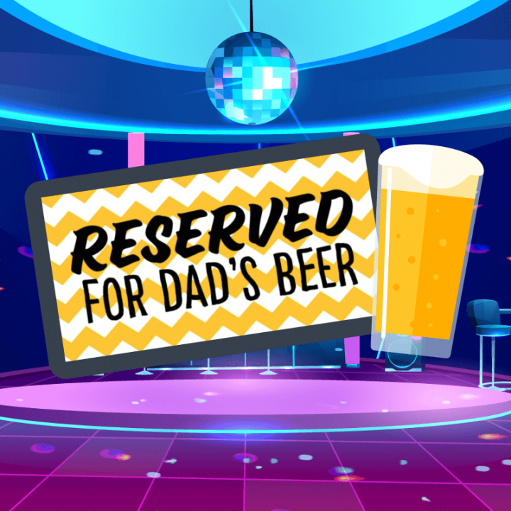Father's Day Beer Counter Mats
