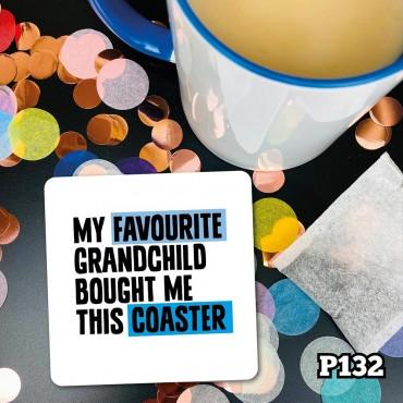 Favourite Grandchild Coaster