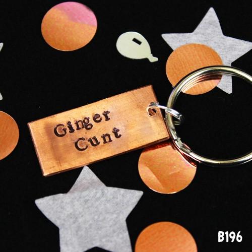 Ginger Cunt Keyring