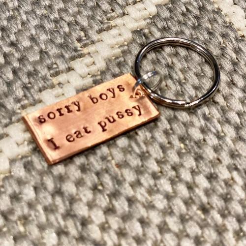Sorry Boys Keyring