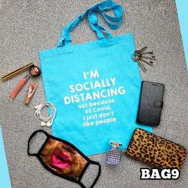 Social Distance Tote Bag