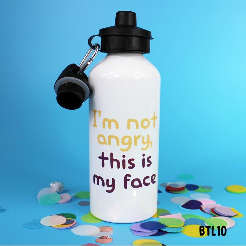 Angry Face Bottle