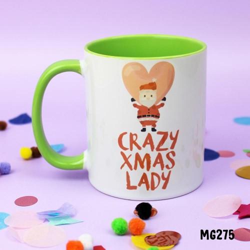 Crazy Xmas Lady Mug