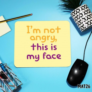 Angry Face Mouse Mat