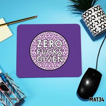 Zero Fucks Mouse Mat
