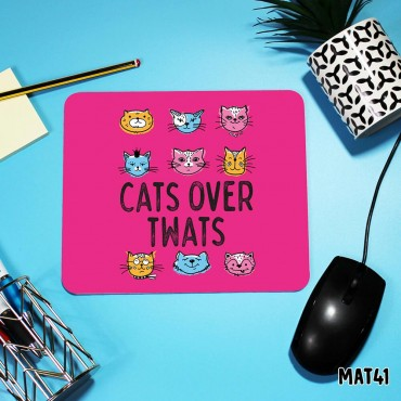Cat Over Twats Mouse Mat