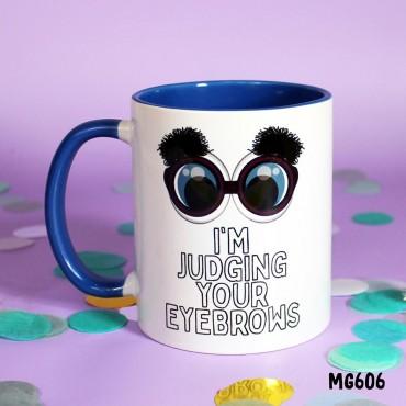 Judging Eyebrows Mug