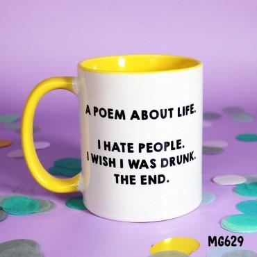 Poem about Life Mug