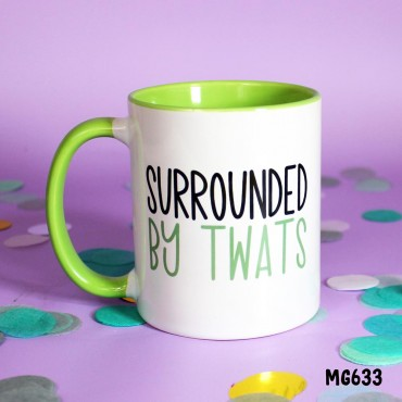 Surrounded By Twats Mug