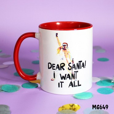 I want it all Santa Mug