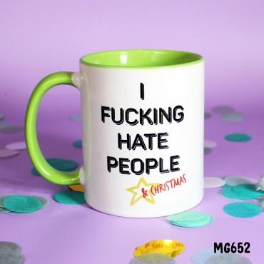 Hate People & Xmas Mug