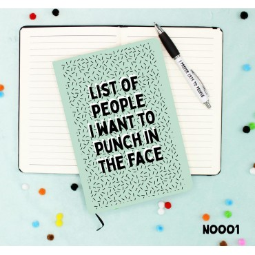 Punch Face Notebook