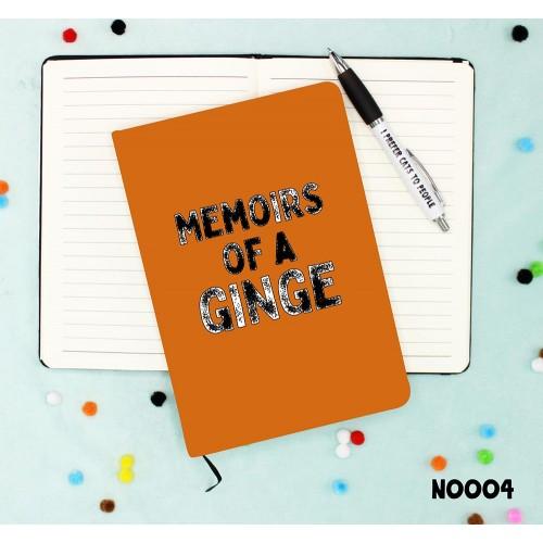 Ginger Memoirs Notebook
