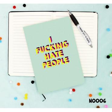 Hate People Notebook