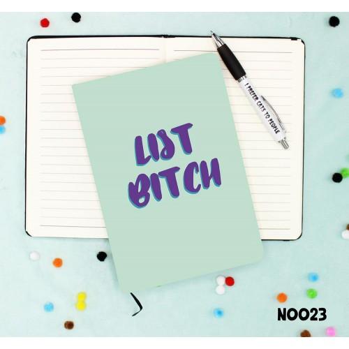List Bitch Notebook