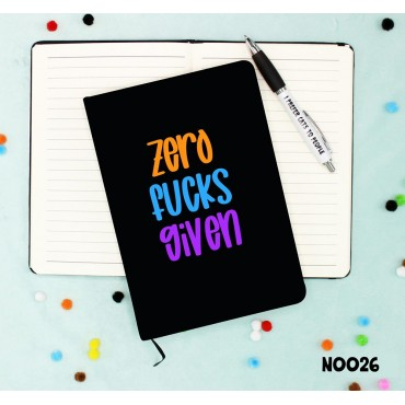 Zero Fucks Notebook