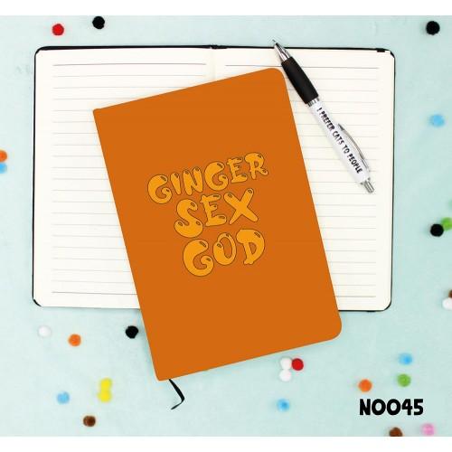 Ginger Sex God Notebook