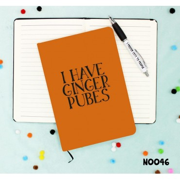 Ginger Pubes Notebook