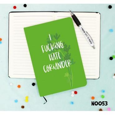 Hate Coriander Notebook