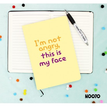 Angry Face Notebook