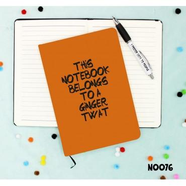 Ginger Twat Notebook