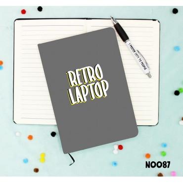 Retro Laptop Notebook
