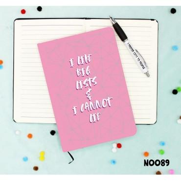Big Lists Notebook