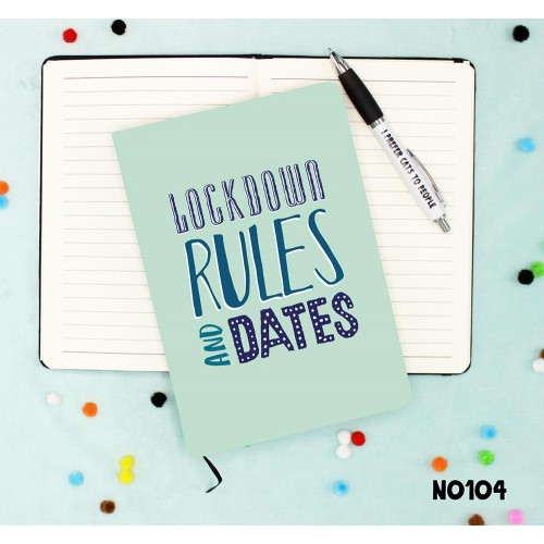 Lockdown Rules And Dates Notebook