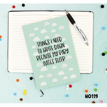 Hates Sleep Notebook