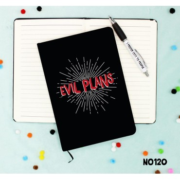 Evil Plans Notebook