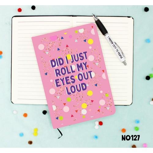 Eye Rolls Notebook