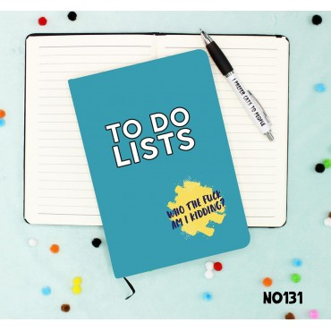 To Do Lists Notebook